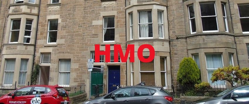 Tenement building, the most typical HMO investment in Edinburgh
